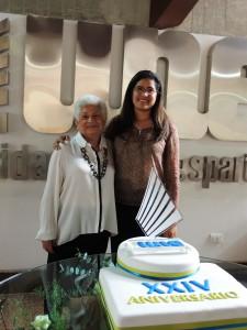 Rectora Gladys Carmona  y Decana de Facultad de Ciencias de la Informática