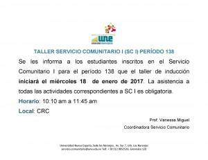 Inicio Taller SCI P138